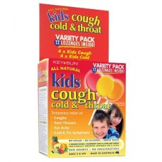 Key Sun Kids Cough Cold & Throat Lollies 12