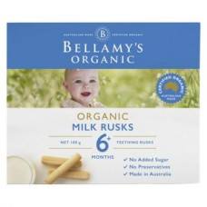Bellamy's Organic Milk Rusks Toothiepegs 100g