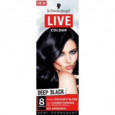 Schwarzkopf Live Semi-Permanent Colour Deep Black 30ml