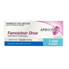 APO Health Famciclovir Once Cold Sore Treatment 3 Tab